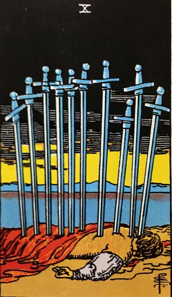タロットカード『ソード10』 by占いとか魔術とか所蔵画像