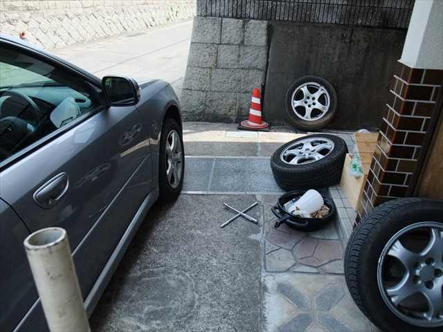 タイヤ交換②