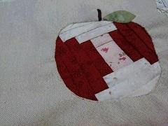 リンゴのポーチ作り