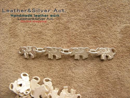 象のアクセサリー チェーンブレス シルバー 925
