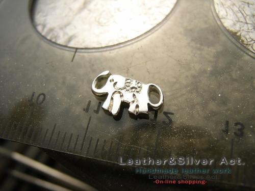 象のアクセサリー チェーンブレス シルバー