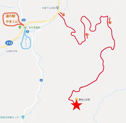 鎌城公民館map