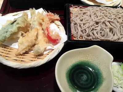 夏の天ぷら付きざる蕎麦