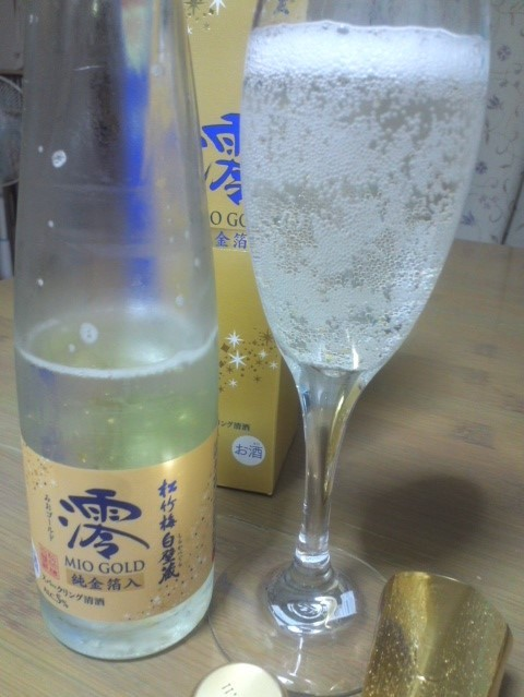 松竹梅白壁蔵「冬季限定 澪 MIO GOLD純金箔入」