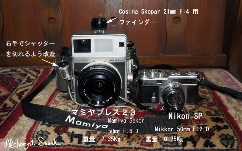 マミヤプレス と Nikon SP