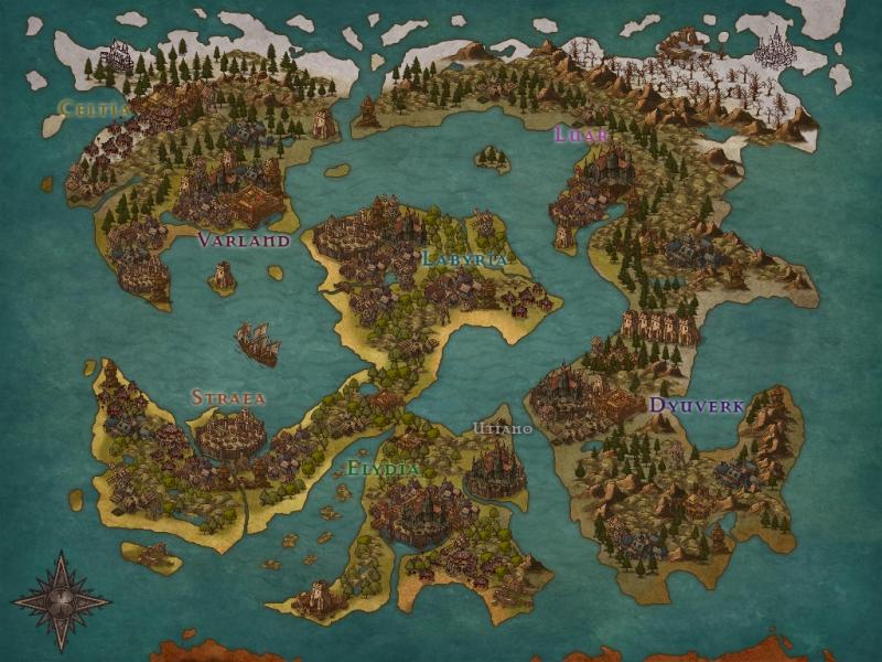 ストーリー『The Crowns』のマップ