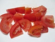 トマトとスナップエンドウ 調理②