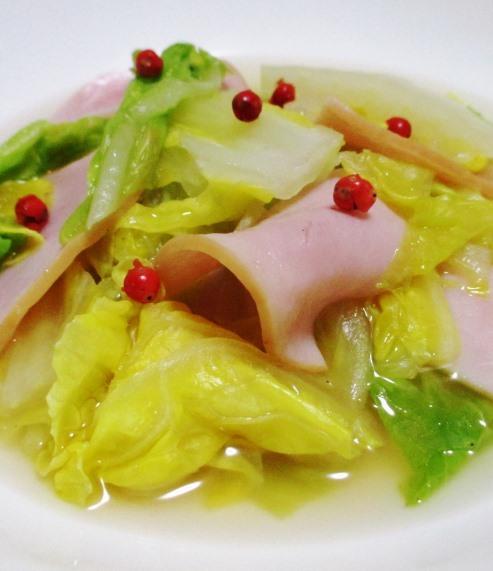 白菜とハムのさっと煮 B