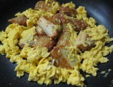 野菜天の卵炒め 調理④