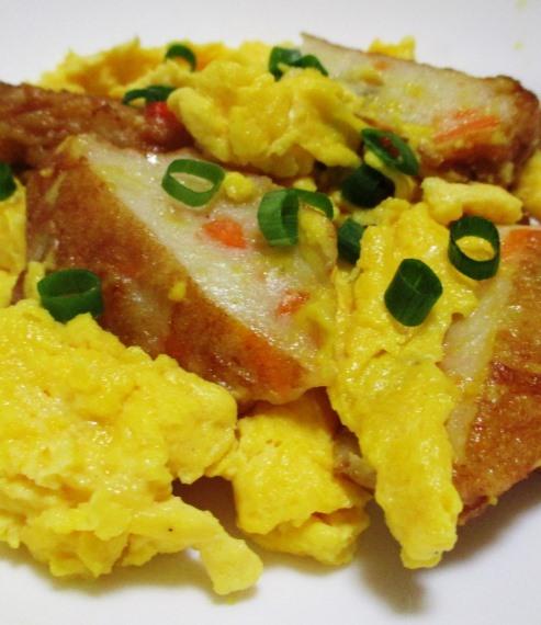 野菜天の卵炒め B