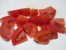 トマトとほうれん草 調理②