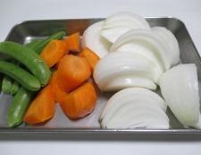 春野菜とソーセージ 調理①