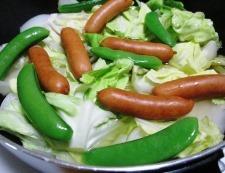 春野菜とソーセージ 調理⑤