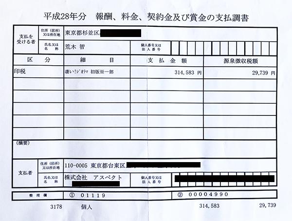 2015年支払い調書