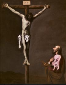 磔刑のキリストと画家.