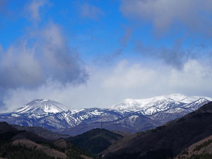 福島市内から見る吾妻山