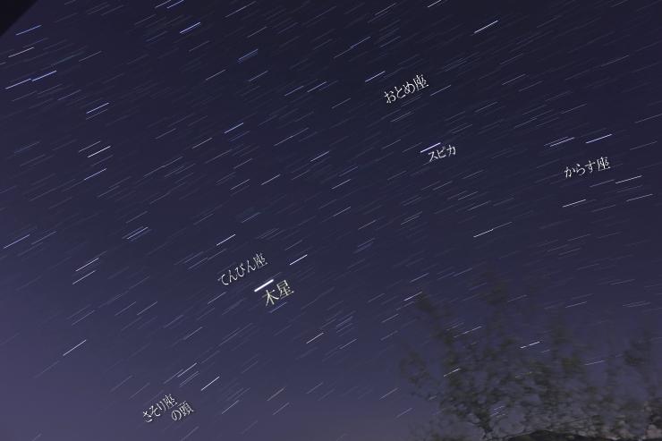 22時過ぎの星空
