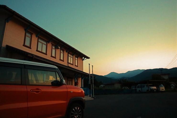 吾妻山麓夕景