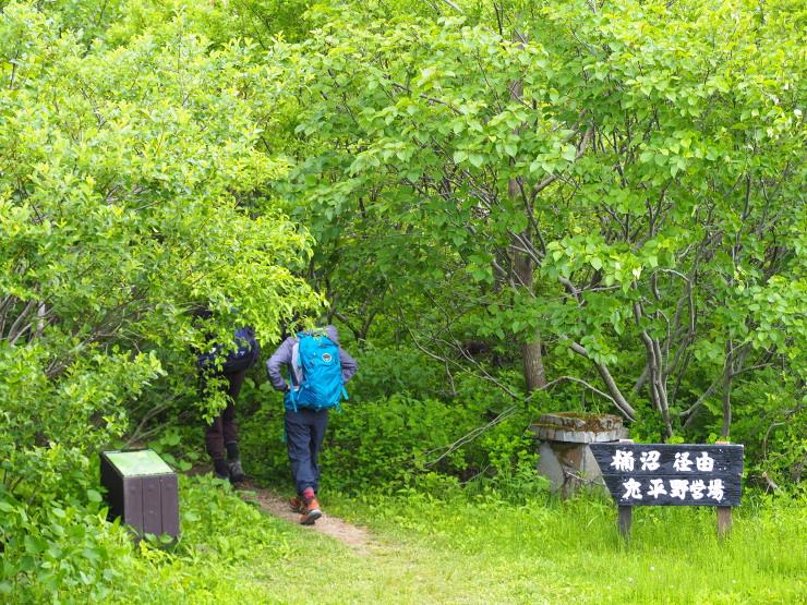 桶沼の森へ