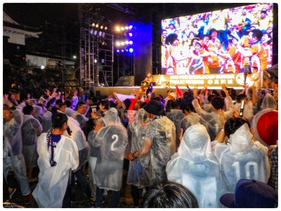Japan vs Colombia 2018 高知城