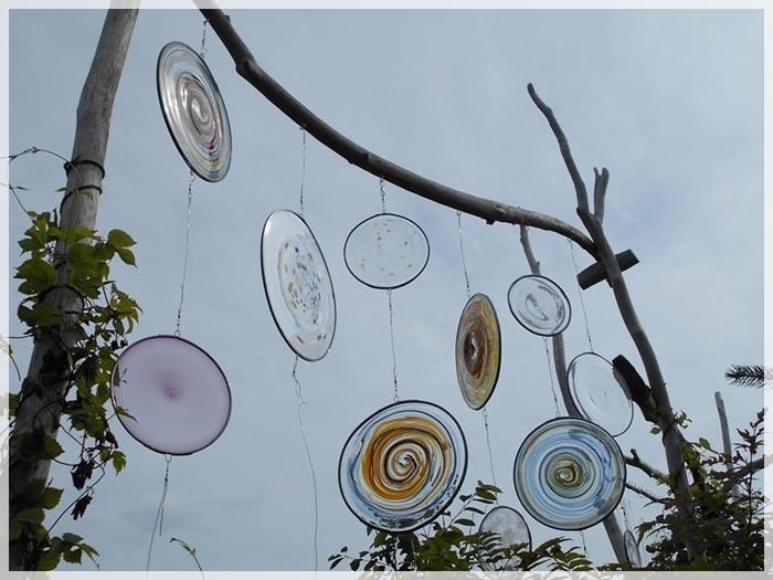 ガラス工芸展「風に吹かれて2」