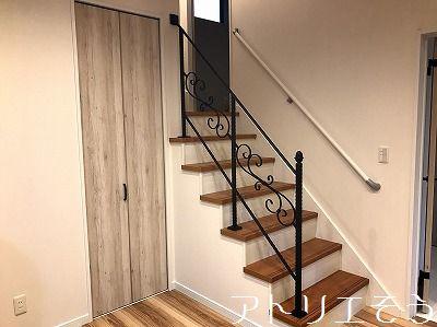 階段手摺設置写真