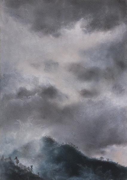 霧の霊山 パステル