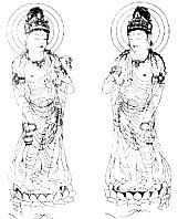 法隆寺橘夫人厨子菩薩像