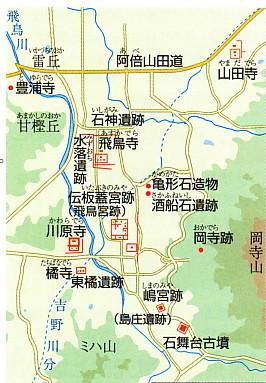 飛鳥寺付近地図