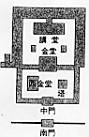 川原寺配置図