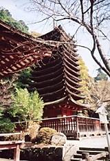 談山神社十三重塔下