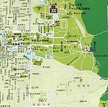 奈良市内地図白毫寺興福寺