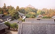 東大寺二月堂から大仏殿屋根