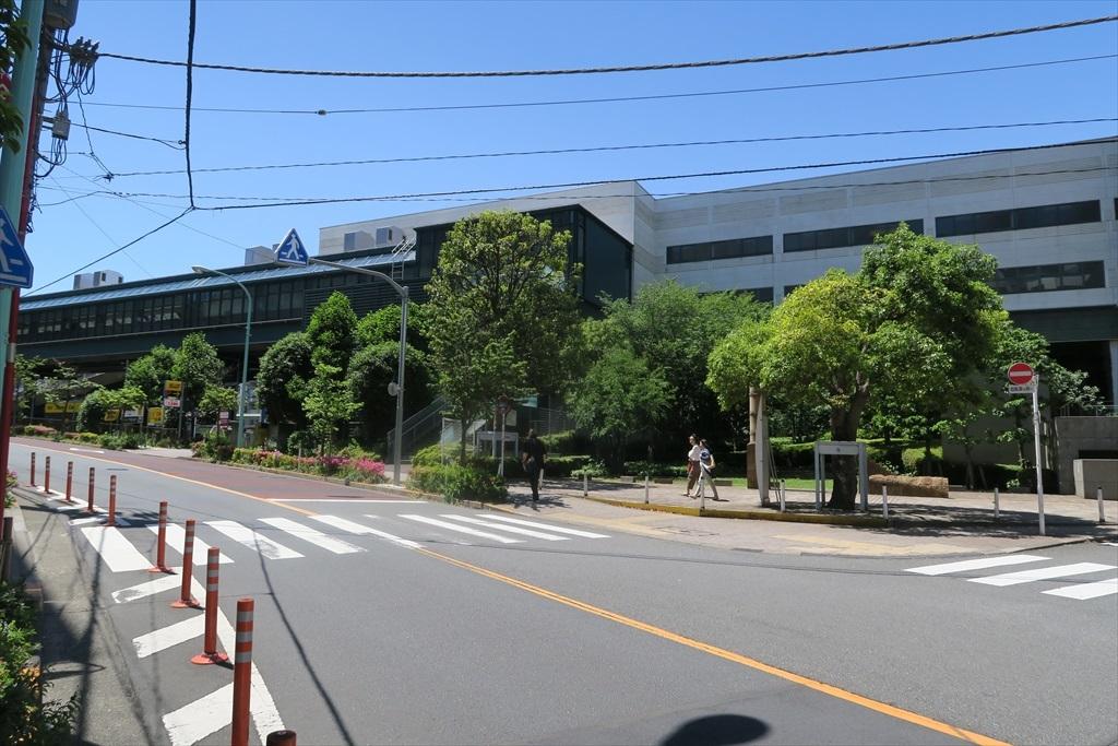 恵比寿駅沿いの道筋