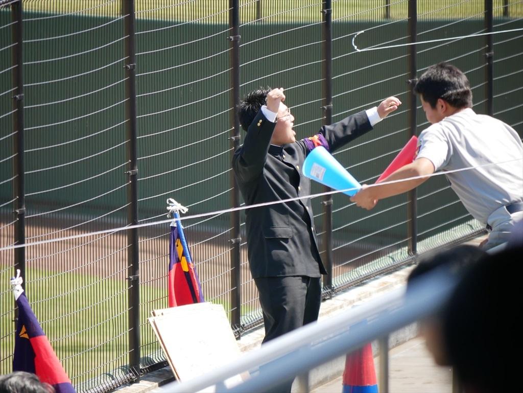 今回は慶應義塾女子高校のチアリーダーの応援は無いようだ_1