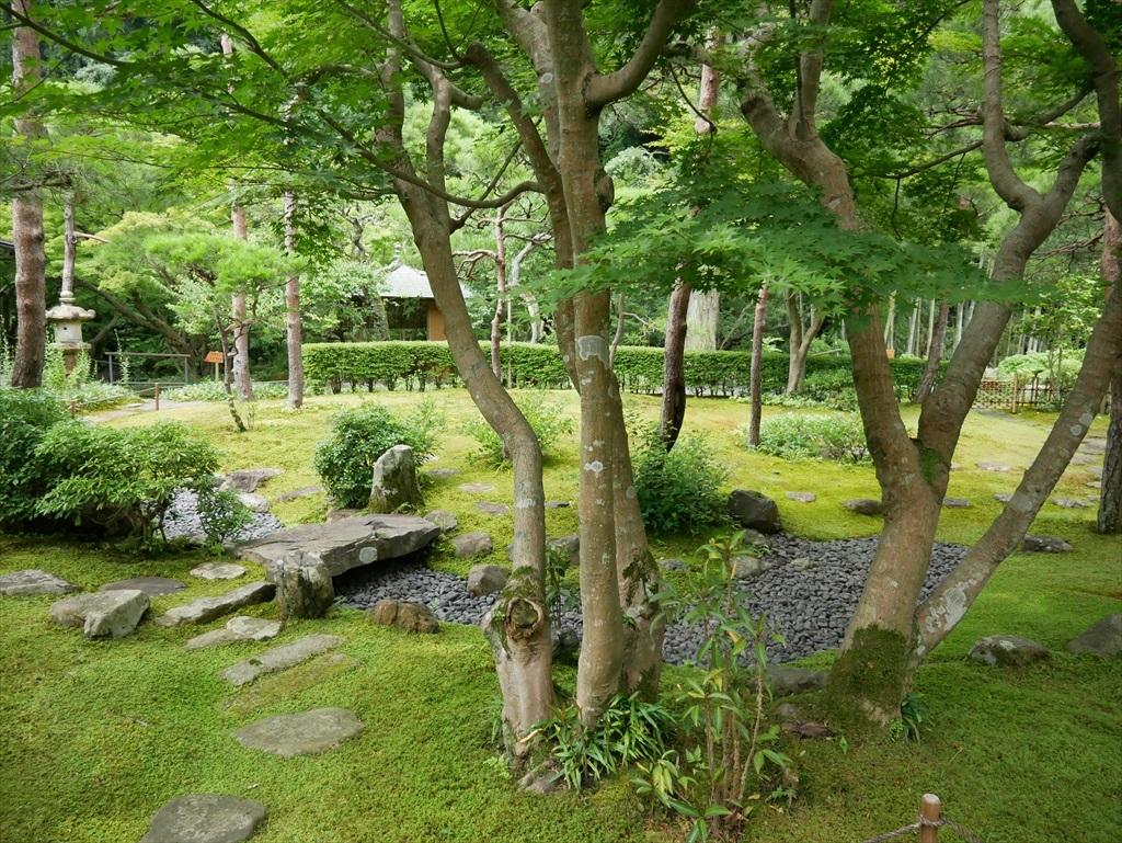 そのアプローチから庭園を見た様子_2