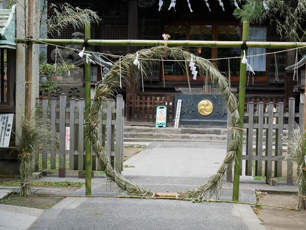 荏原神社_茅の輪潜り_4