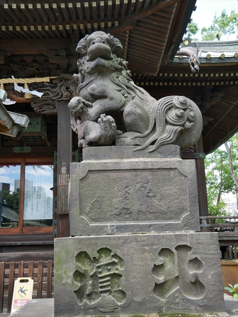 荏原神社_狛犬_1
