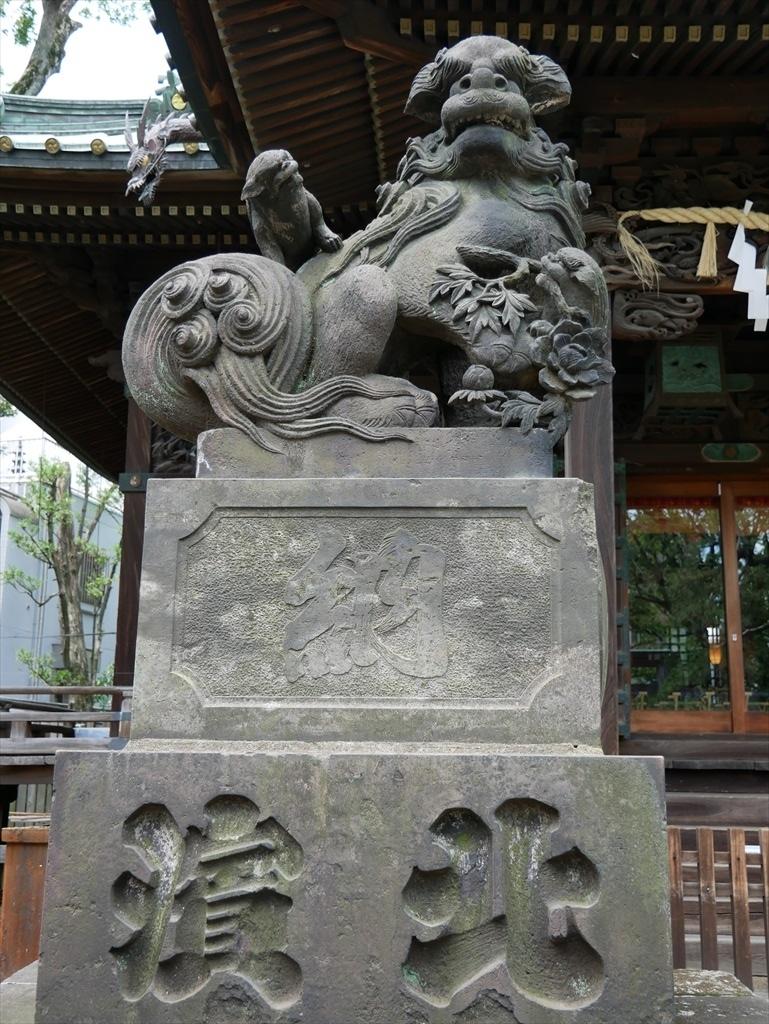 荏原神社_狛犬_2