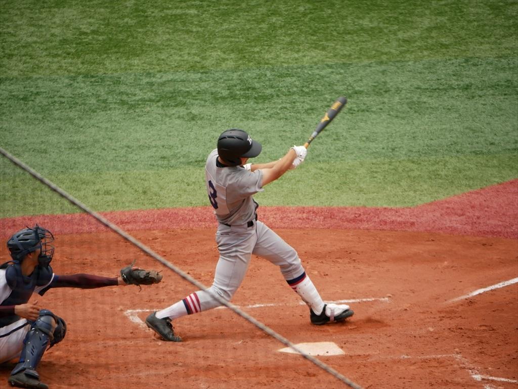 3回表の廣瀬君のソロ本塁打