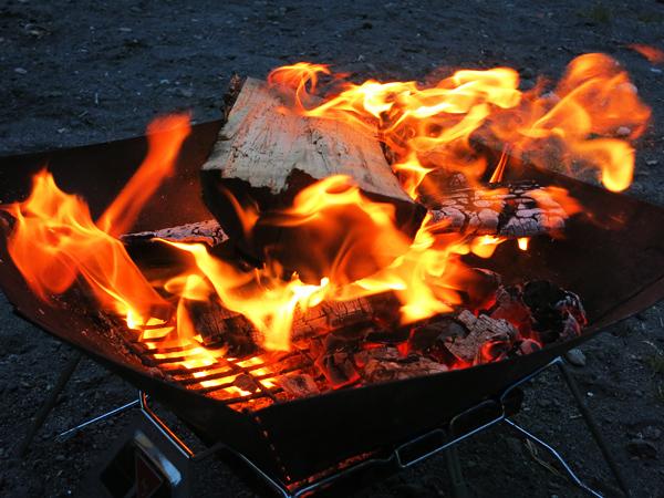 モラップキャンプ場 焚火