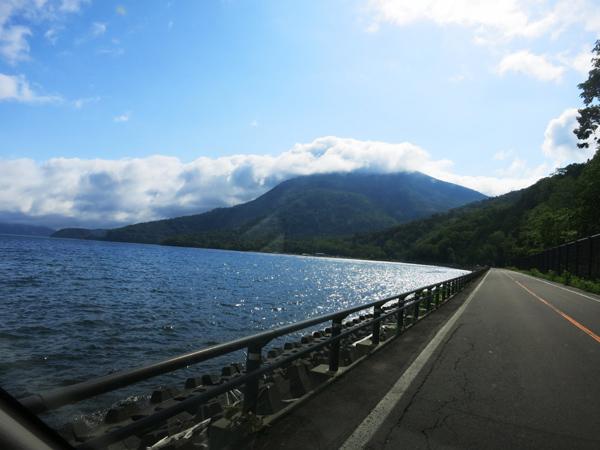洞爺湖 帰り道 キラキラ
