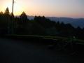 180421大正池和束側の日の出