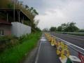 180503自転車道分離工事中の藤ケ崎龍神裏の湖岸道路