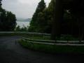 180503長命寺から湖岸に下っていく