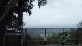 180407荒神山から雨に霞む琵琶湖方面を望む
