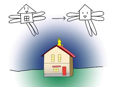 空飛ぶ家1