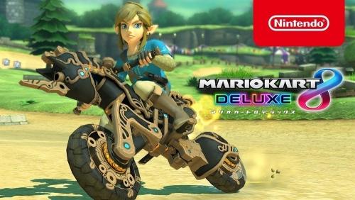 Switch『マリオカート8 DX』に「ゼルダBotW」リンクとマスターバイク零式が登場!