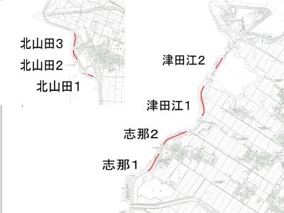 草津湖岸の花街道事業エリア