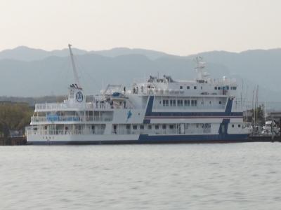 杢兵衛造船所で護送作業中の新うみのこ(18/04/10)